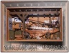 Velero, marco de 6cms. de altura por 8cms. de largo que guarda un velero con todos sus complementos de navegación.